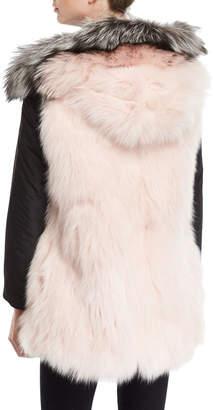 Nicole Benisti Belleville Reversible Fur-Lined Anorak w/ Fur Hood