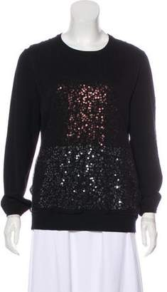 St. John Sequined Long Sleeve Sweater
