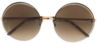 Pomellato Eyewear crystal embellished round sunglasses