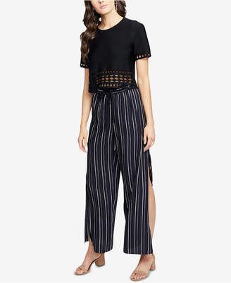 Rachel Roy Striped Side-Slit Pants
