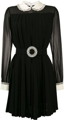 Miu Miu contrast collar mini dress