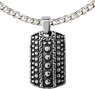 JCPenney FINE JEWELRY Textured Stainless Steel Dog Tag Pendant Necklace