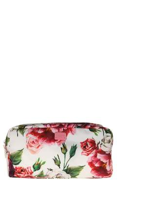 Dolce & Gabbana Necessaire In Nylon With Peonie Print