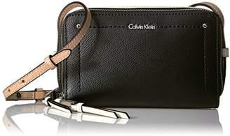 Calvin Klein Boxy Mercury Leather Zip Around Crossbody