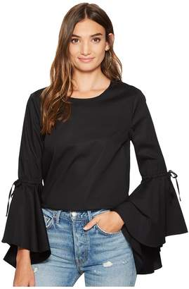 1 STATE 1.STATE Long Sleeve Cascade Circle Sleeve Top Women's Long Sleeve Pullover