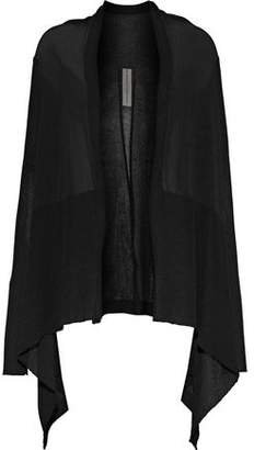 Rick Owens Draped Stretch-Knit Cardigan