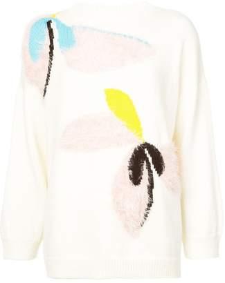 DELPOZO floral motif jumper