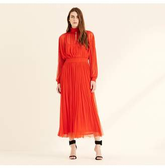 Amanda Wakeley Papaya High Neck Silk Tulle Dress