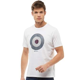 Ben Sherman Check Target T-Shirt Bright White