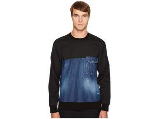 DSQUARED2 Stretch Denim Pullover Shirt Men's Clothing