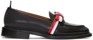 Thom Browne Black Bow Loafers $990 thestylecure.com