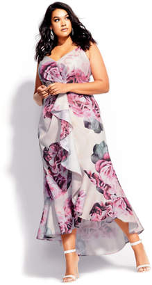 City Chic Citychic Vintage Blossom Maxi Dress - blush