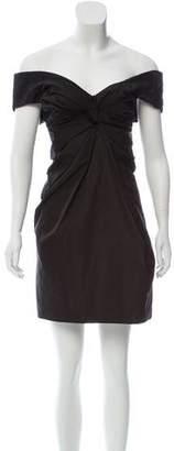 Marc Jacobs Gathered Off-The-Shoulder Dress
