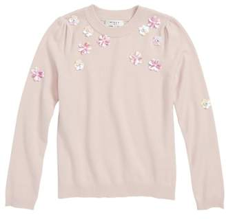 Milly Minis Floral Embellished Sweater
