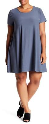 Planet Gold Yummy Trapeze Knit Dress (Plus Size)