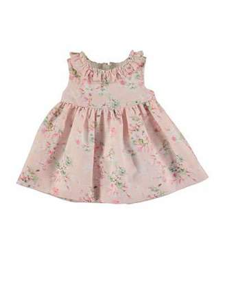 MAYORAL Sleeveless Floral Linen-Blend Dress w/ Bloomers, Rose, Size 6-36 Months $65 thestylecure.com