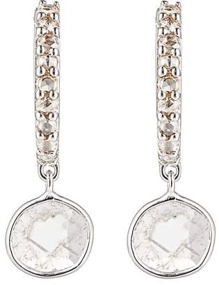 Ileana Makri Womens Diamond-Slice Huggie Hoops BNChbW2Rce