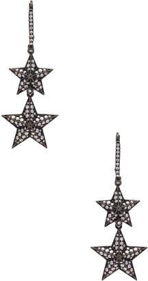 Lynn Ban Double Pave Star Earrings