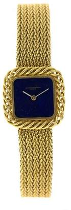 Vacheron Constantin 18K Yellow Gold Lapis Dial Womens Watch $8,000 thestylecure.com