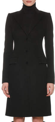 Dolce & Gabbana Peak-Lapel Three-Button 3/4-Length Coat