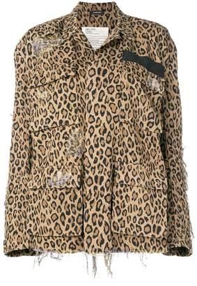 R 13 leopard print jacket