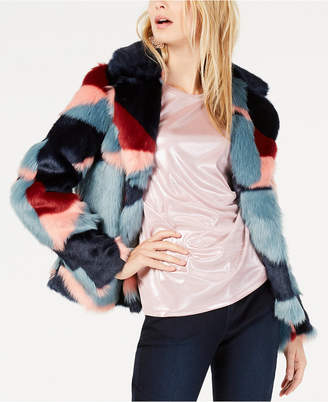 INC International Concepts I.N.C. Printed Faux-Fur Coat, Created for Macy's