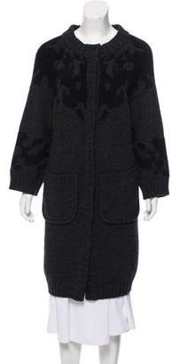 Proenza Schouler Patterned Wool Cardigan