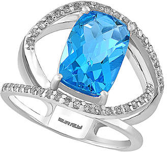 Effy Fine Jewelry 14K 4.51 Ct. Tw. Diamond & Blue Topaz Ring