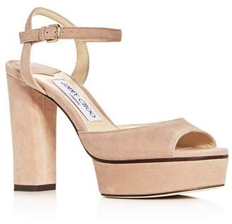 Jimmy Choo Women's Peachy 105 High-Heel Platform Sandals