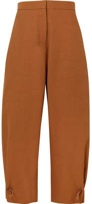 Stella McCartney Toggle-detailed Poplin Wide-leg Pants - Tan