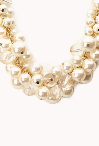 Forever 21 Opulent Faux Pearl Necklace