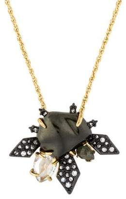 Alexis Bittar Faux Pearl & Spiked Crystal Pendant Neckalce