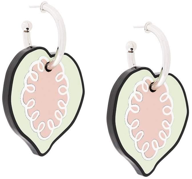 drop heart earrings