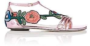 Gucci Women's Ophelia Leather T-Strap Sandals - Rosa Pink
