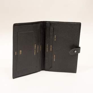Blade + Blue Vintage Black Leather Passport Holder, Travel Wallet