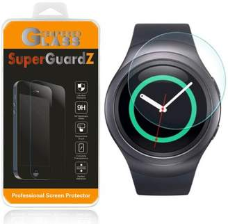 Samsung [2-Pack] For Gear S2 Gear S2 Classic - SuperGuardZ Tempered Glass Screen Protector [Anti-Scratch, Anti-Bubble] + LED Stylus Pen