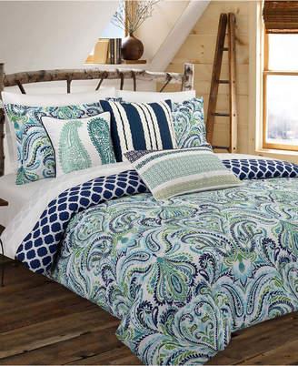Nouvelle Home Painterly Paisley Blue King Duvet Set Bedding