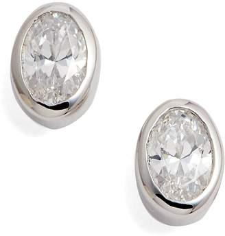 Lafonn Bezel Set Oval Stud Earrings