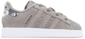 adidas Superstar EL Lace-Up Leather Trainers, Sizes 21-27