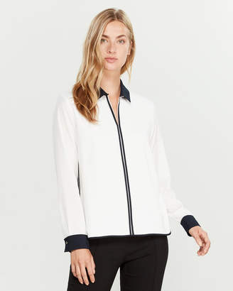 Tommy Hilfiger Contrast Long Sleeve Blouse