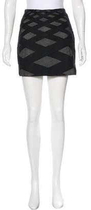 Robert Rodriguez Mesh Mini Skirt