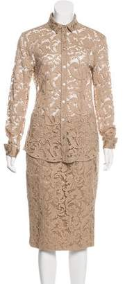 Burberry Guipure Lace Skirt Set