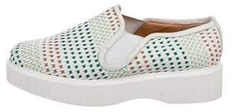 Robert Clergerie Platform Woven Sneakers