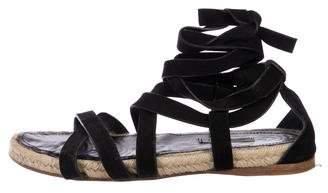 Miu Miu Suede Flat Sandals