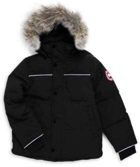 Canada Goose Toddler's, Little Boy's& Boy's Snowy Owl Fur-Trim Parka