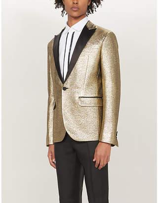 DSQUARED2 Regular-fit metallic woven blazer