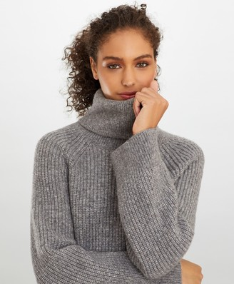 Brooks Brothers Stretch Wool Oversized Turtleneck Sweater