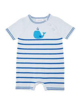 Angel Dear Nautical Whale Striped Shortall, Size 0-12 Months
