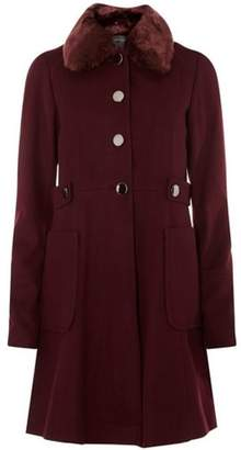 Dorothy Perkins Womens **Tall Wine Dolly Coat