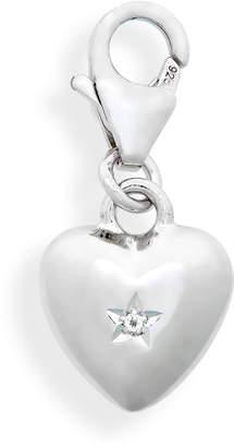 Tom Wood Rock Crystal Heart Charm